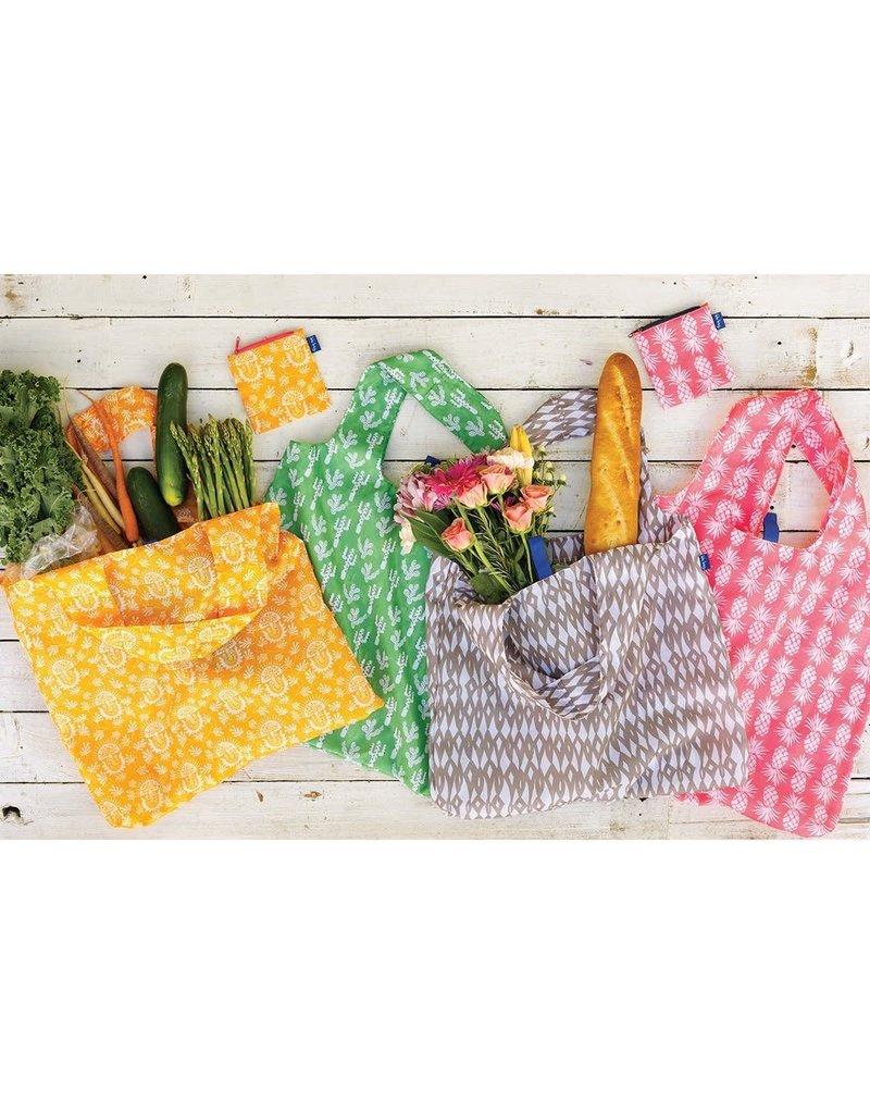 Rock Flower Paper Pineapple Pink Blu Bag