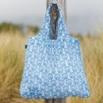 Rock Flower Paper 39-8112Q Sea Urchin Blue Blu Bag