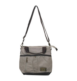 3943 Lt Grey Canvas Bag