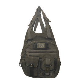 Triple Tree Canvas 3934 Green Canvas Backpack
