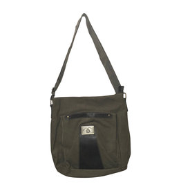 Triple Tree Canvas 3935 Green Canvas Shoulder Bag