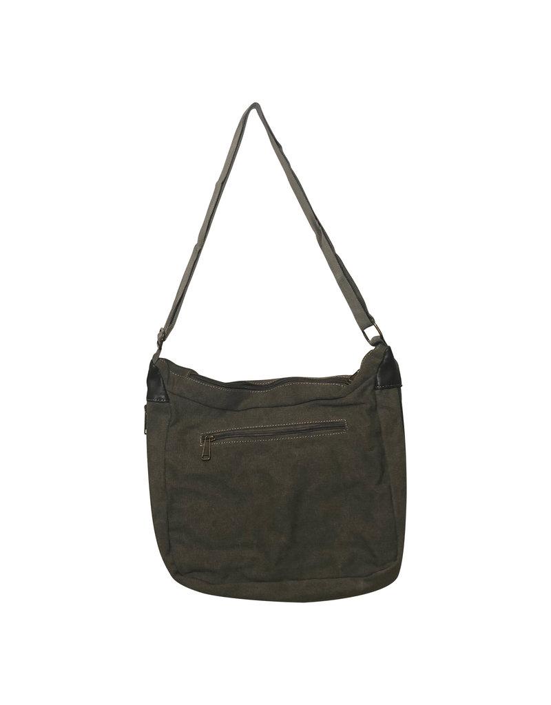 Triple Tree Canvas 3936 Green Canvas Shoulder Bag