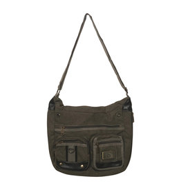 3936 Green Canvas Shoulder Bag