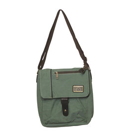 Triple Tree Canvas 3944 Sage Green Canvas Shoulder Bag