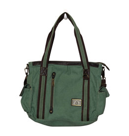 Triple Tree Canvas 3946 Sage Green Canvas Purse