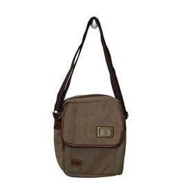 Triple Tree Canvas 3965 Lt Brown Shoulder/Crossbody Bag