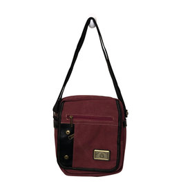Triple Tree Canvas 3967 Burgundy Shoulder/Crossbody Bag