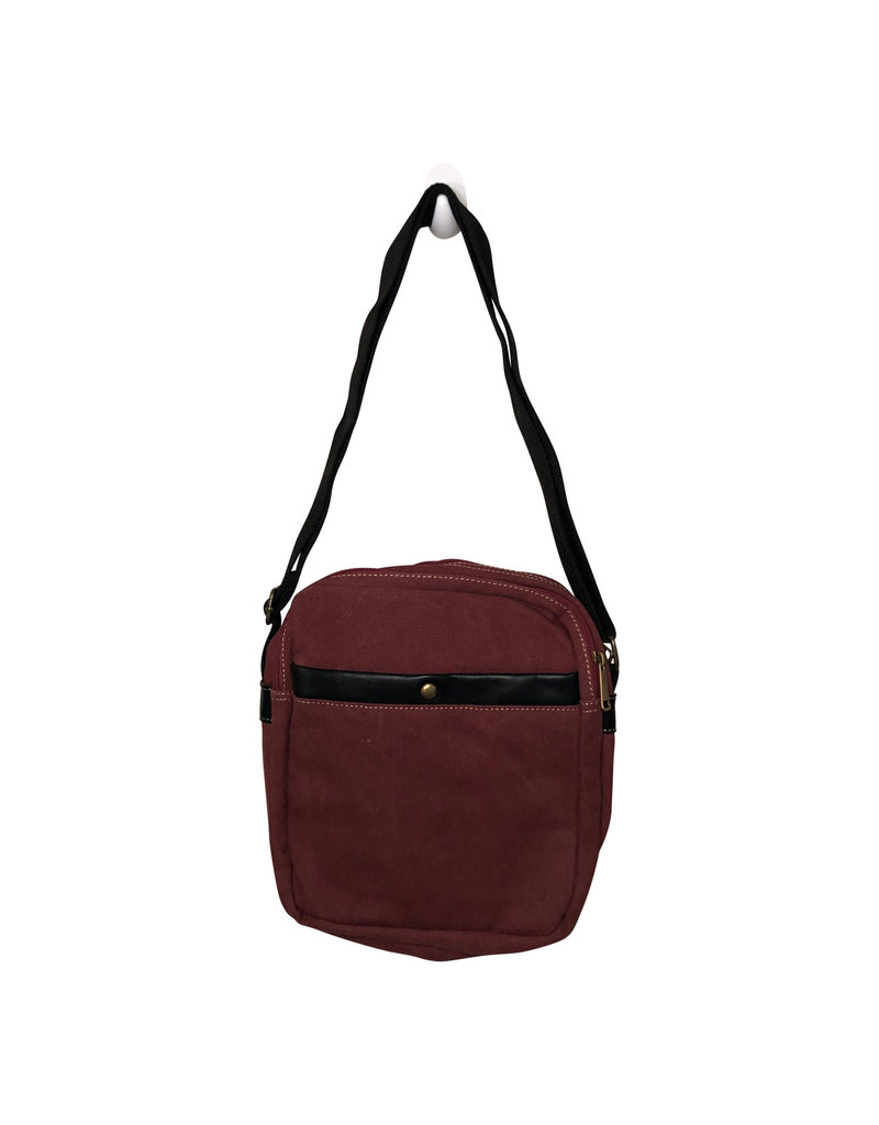 Triple Tree Canvas 3967S Burgundy Canvas Bag