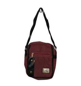 3967S Burgundy Canvas Bag