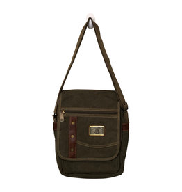 Triple Tree Canvas 3968 Green Shoulder/Crossbody Bag