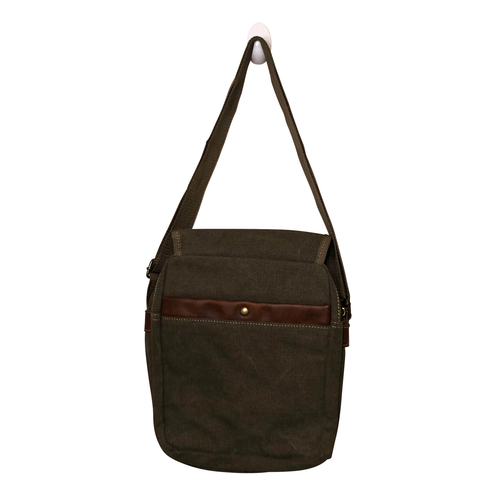 Triple Tree Canvas 3968 Green Shoulder/Crossbody Bag