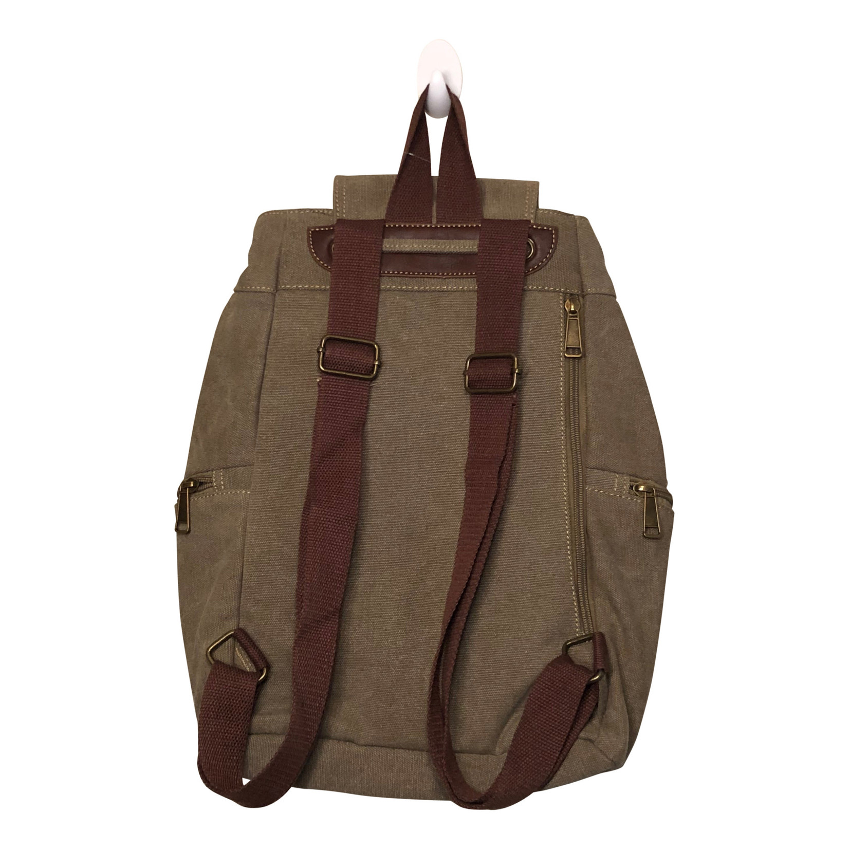Triple Tree Canvas 3969 Light Brown Canvas Backpack