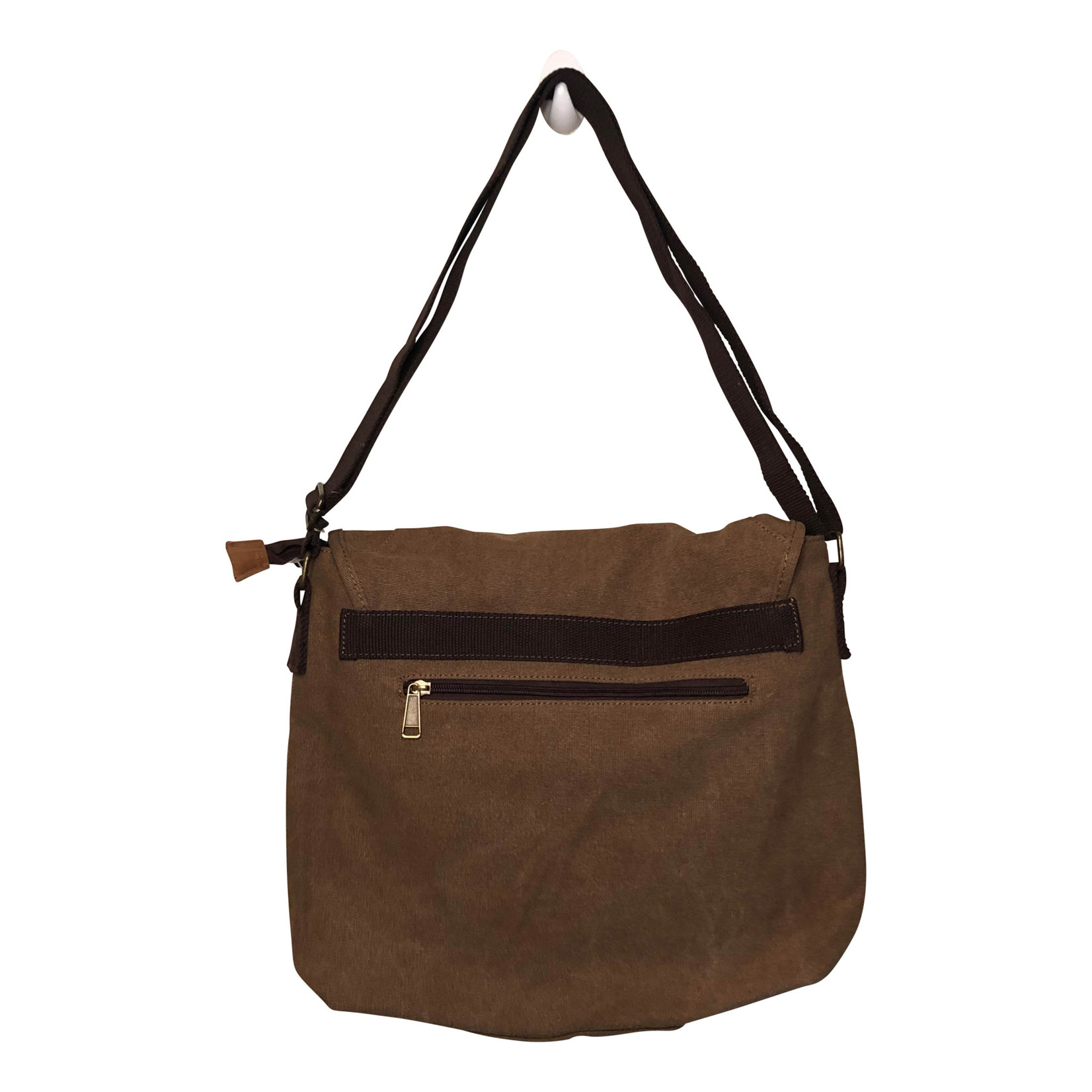 Triple Tree Canvas 3971 Medium Brown Canvas Messenger