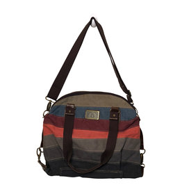 3972 Multi Colored Canvas Tote