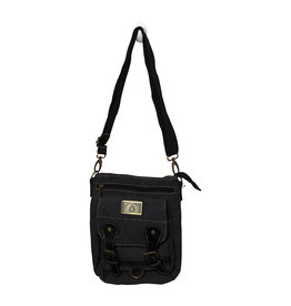 Triple Tree Canvas 3974 Black Canvas Bag