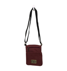 Triple Tree Canvas 3980B Burgundy Canvas Bag
