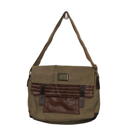 3985 Khaki Canvas Messenger Bag