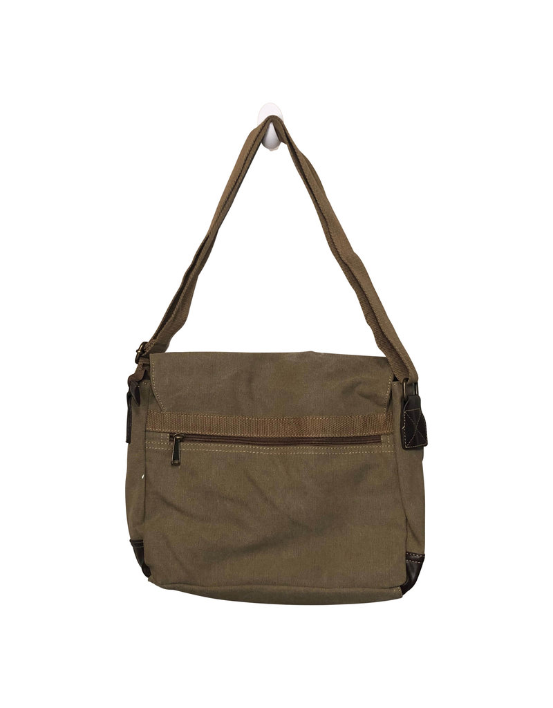 Triple Tree Canvas 3985 Khaki Canvas Messenger Bag