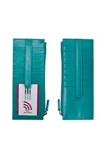 Leather Handbags and Accessories 7800 Aqua - RFID Card Holder