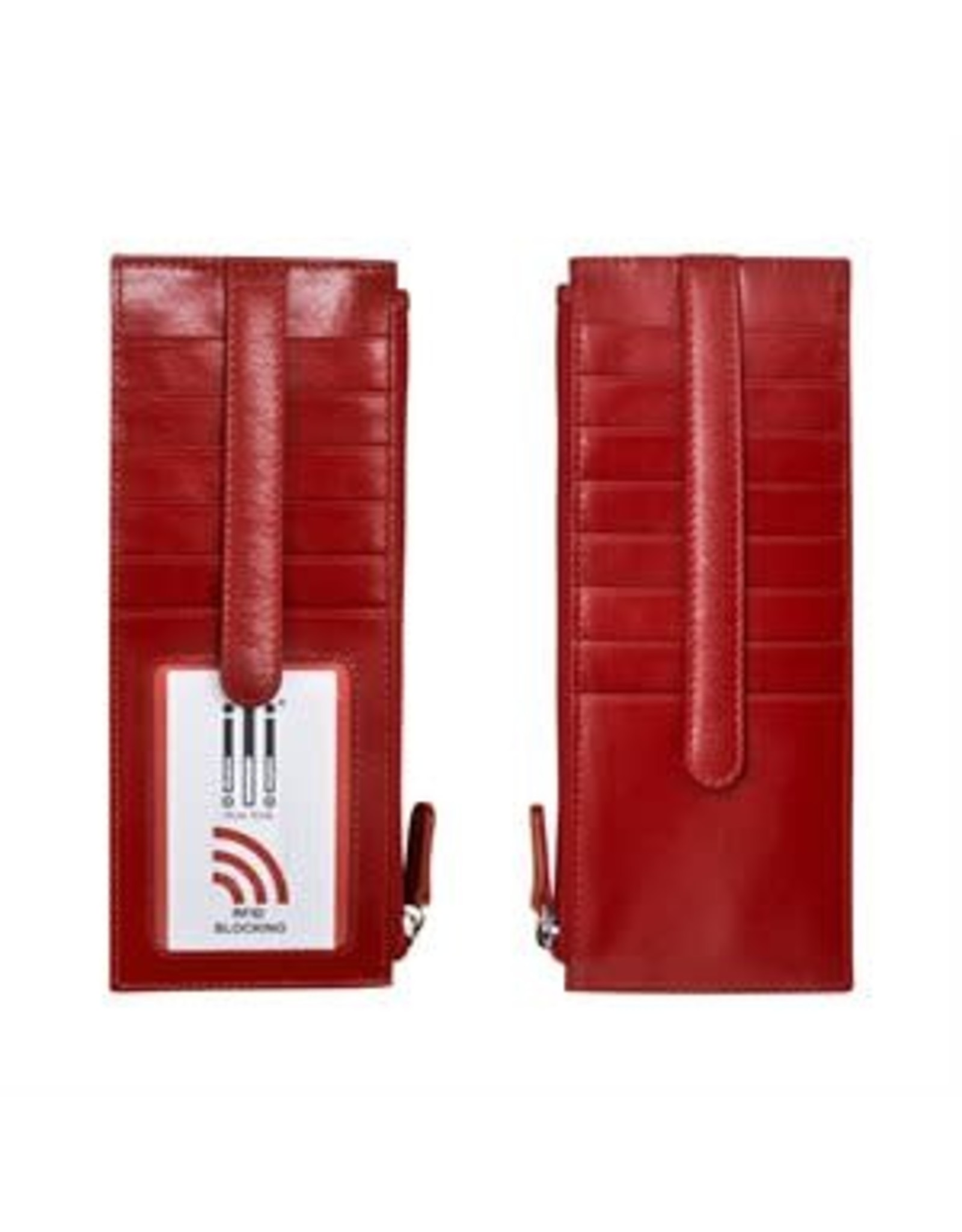 Leather Handbags and Accessories 7800 Red - RFID Card Holder