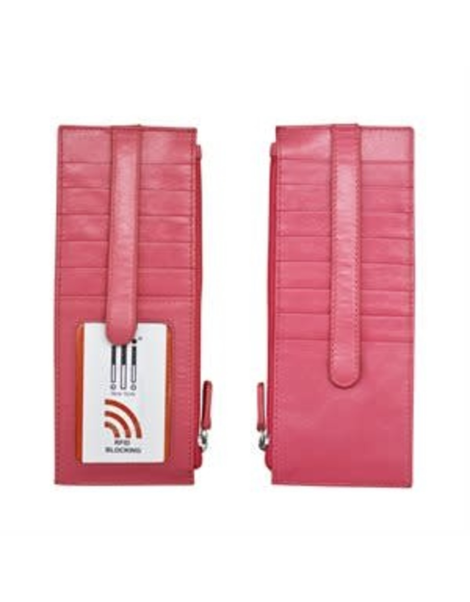 Leather Handbags and Accessories 7800 Hot Pink - RFID Card Holder