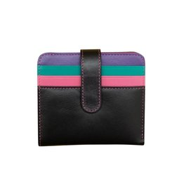 Leather Handbags and Accessories 7301 Black Brights - RFID Small Wallet