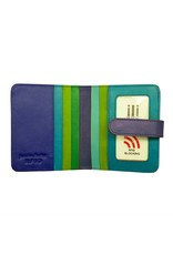 Leather Handbags and Accessories 7301 Cool Tropics - RFID Small Wallet