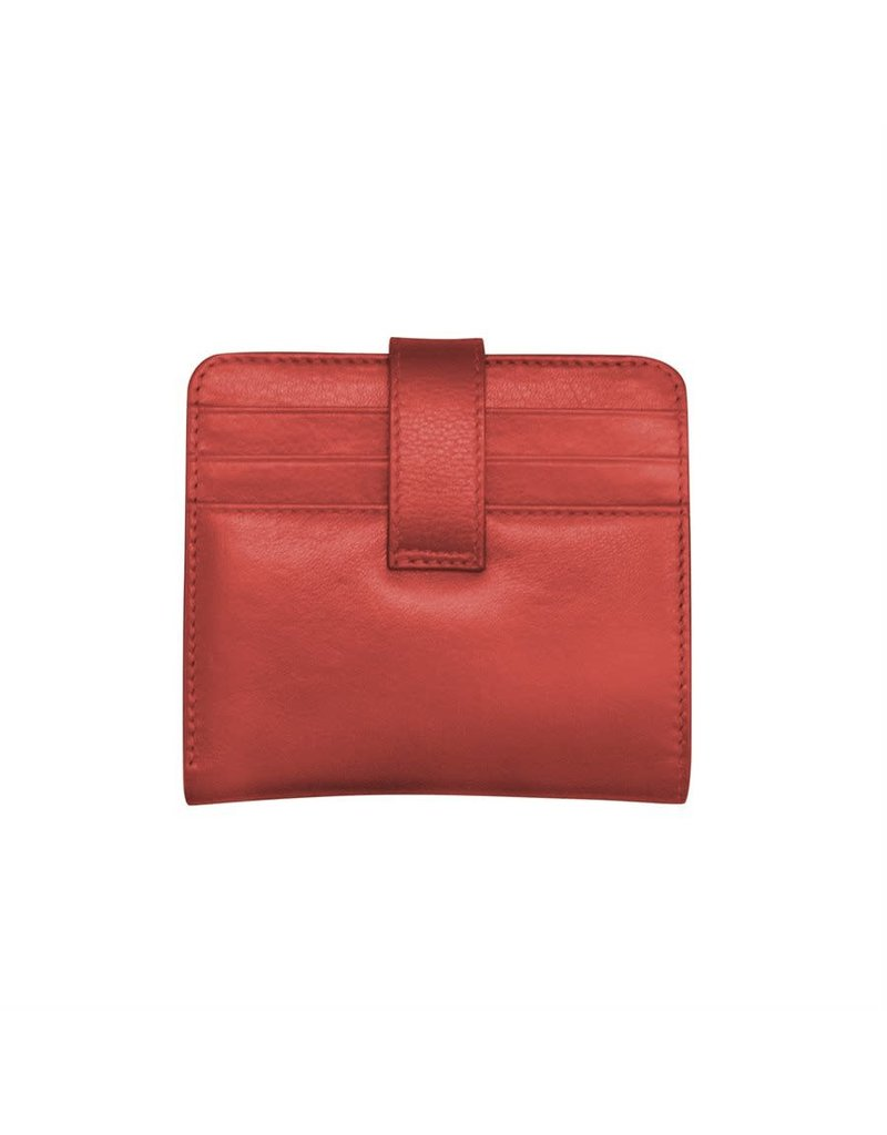 Leather Handbags and Accessories 7301 Red - RFID Small Wallet