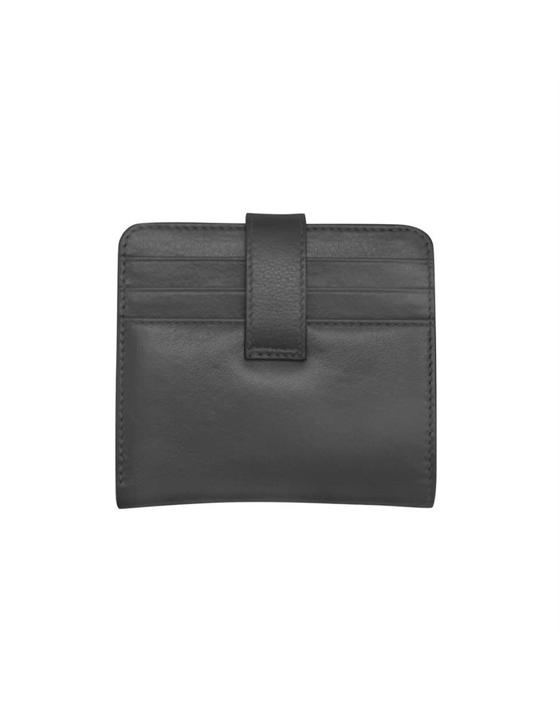 Leather Handbags and Accessories 7301 Black - RFID Small Wallet