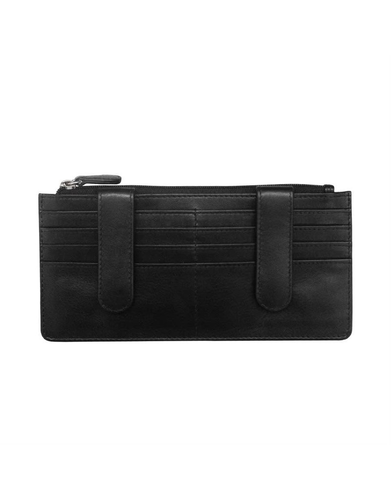 Leather Handbags and Accessories 7306 Black - RFID Credit Card Wallet