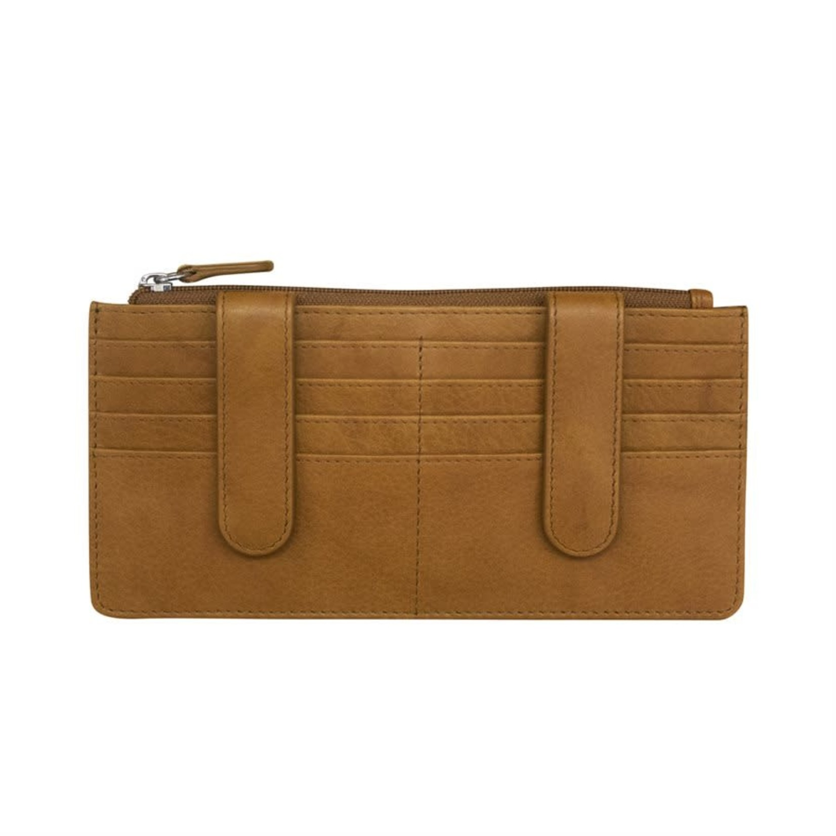 Leather Handbags and Accessories 7306 Antique Saddle - RFID Credit Card Wallet