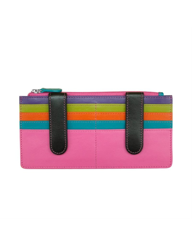 Leather Handbags and Accessories 7306 Black Brights - RFID Credit Card Wallet