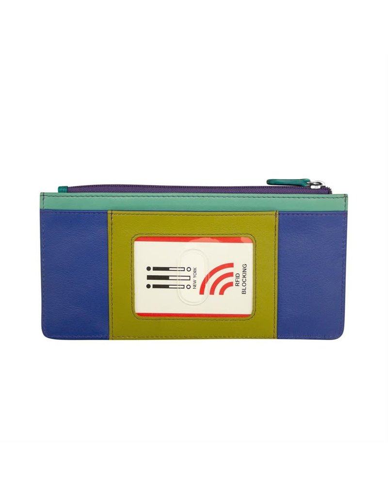 Leather Handbags and Accessories 7306 Cool Tropics - RFID Credit Card Wallet