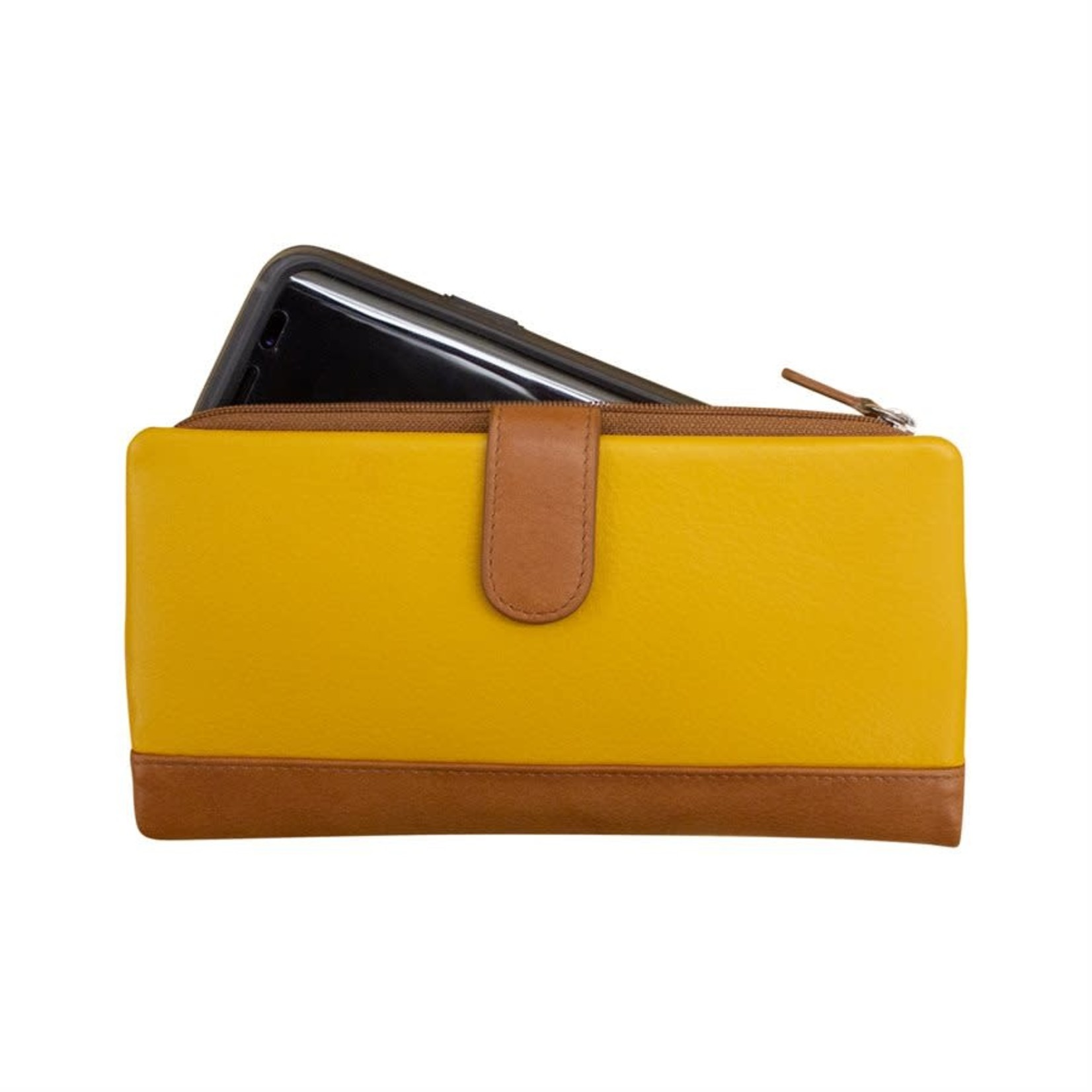 Leather Handbags and Accessories 7420 Yellowstone - RFID Smartphone Wallet