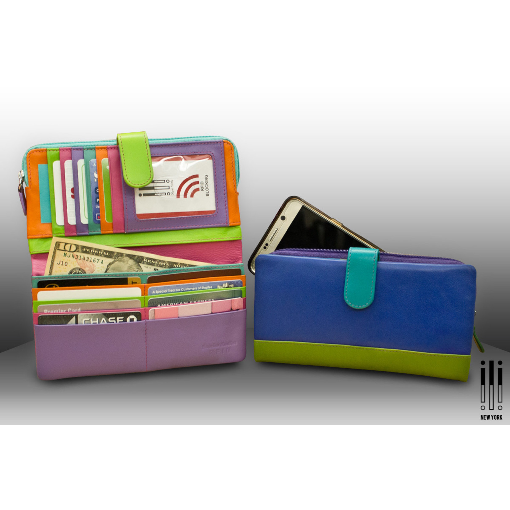 Leather Handbags and Accessories 7420 Mykonos - RFID Smartphone Wallet