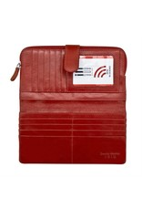 Leather Handbags and Accessories 7420 Red - RFID Smartphone Wallet