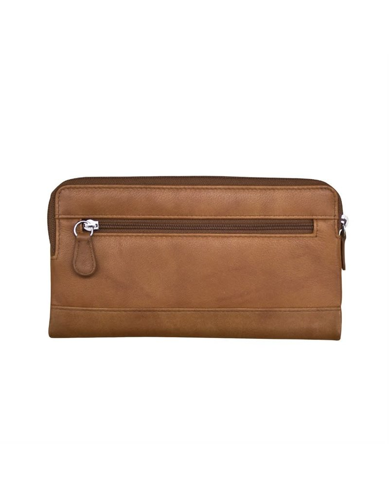 Leather Handbags and Accessories 7420 Antique Saddle - RFID Smartphone Wallet