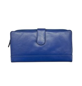 Leather Handbags and Accessories 7420 Cobalt - RFID Smartphone Wallet