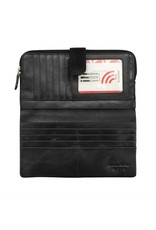 Leather Handbags and Accessories 7420 Black - RFID Smartphone Wallet
