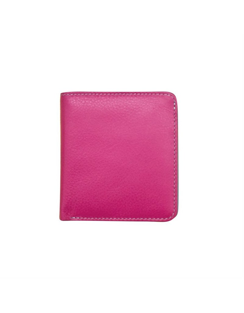 Leather Handbags and Accessories 7831 Fab Fuschia/Turquoise - RFID Mini Wallet Two Toned