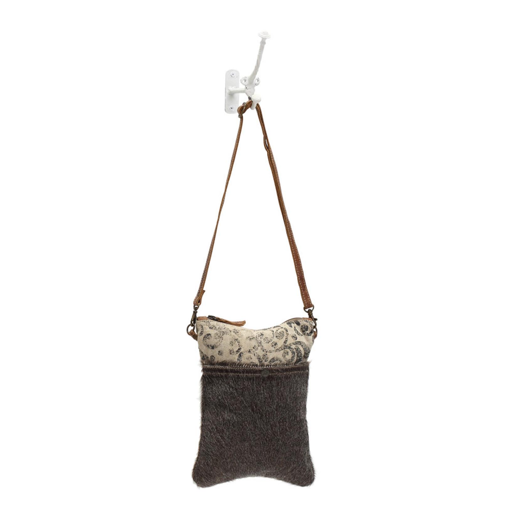 Myra Bags S-1039 Hair-On Pocket Crossbody