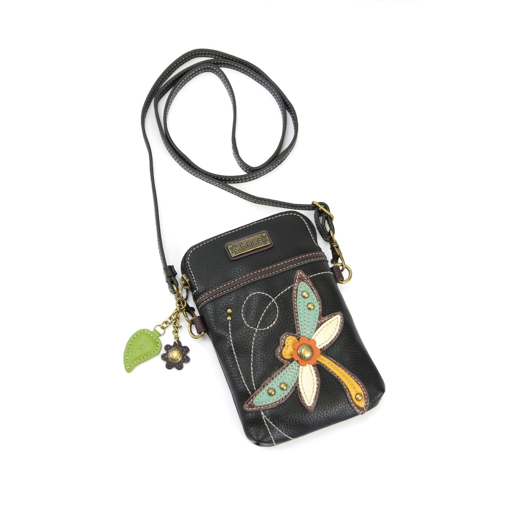 Chala Cell Phone Crossbody Dragonfly Black