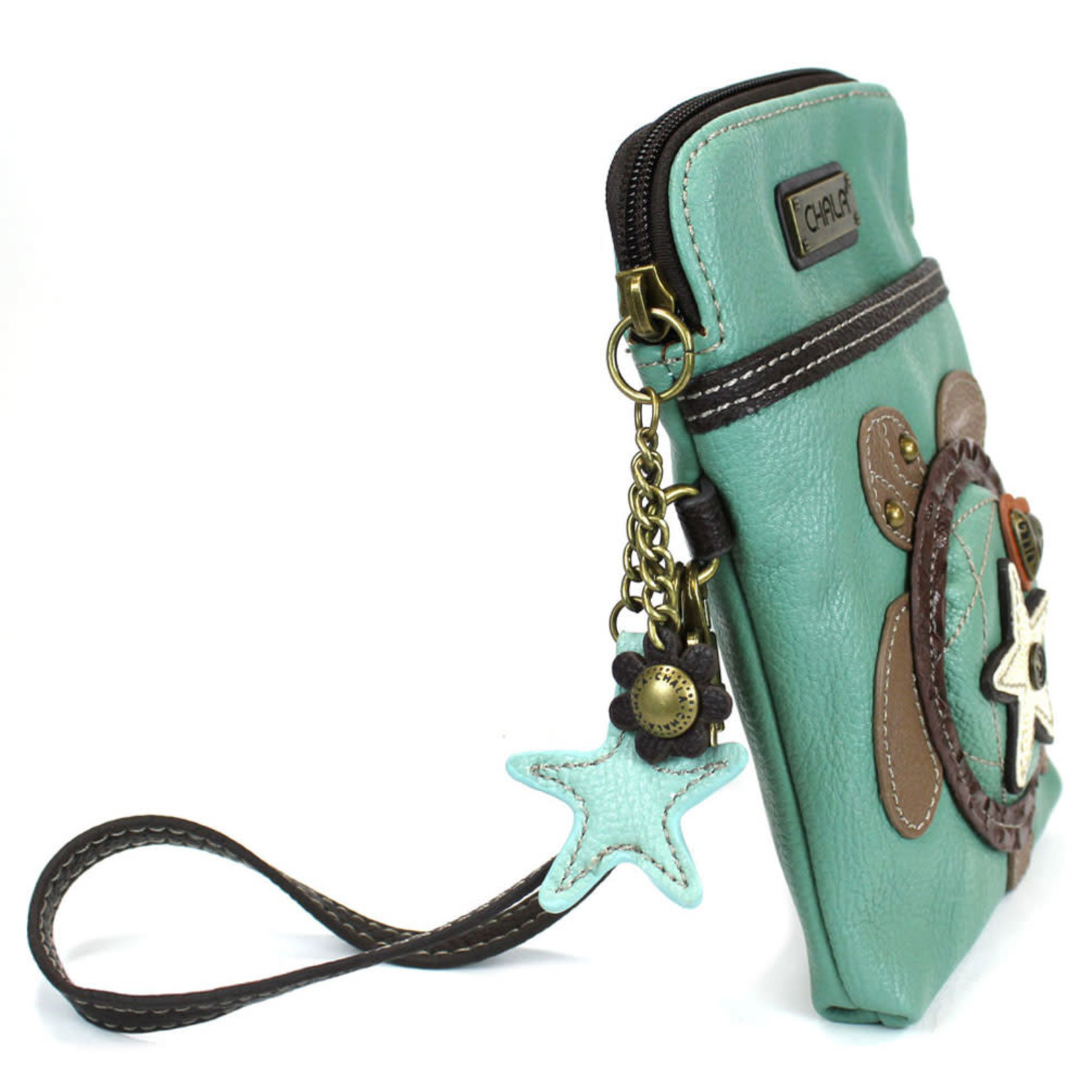 Chala Cell Phone Crossbody Turtle Teal