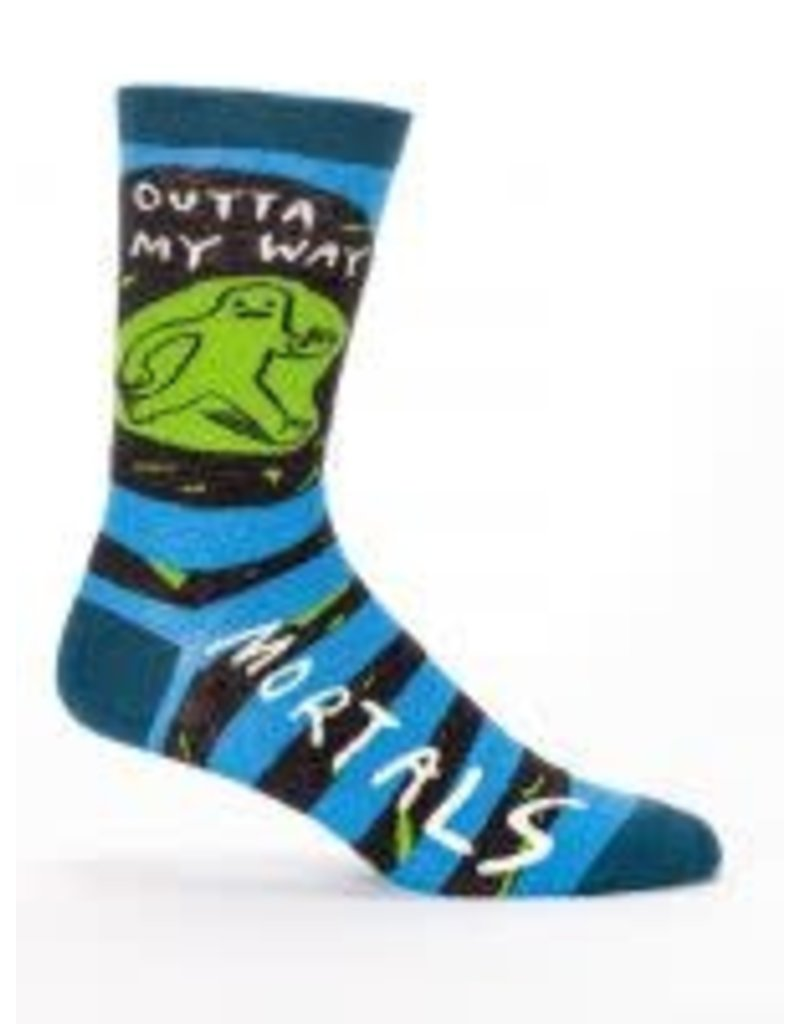 Mens Crew Socks Outta My Way