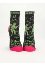 Blue Q Womens Ankle Socks You Rocketh