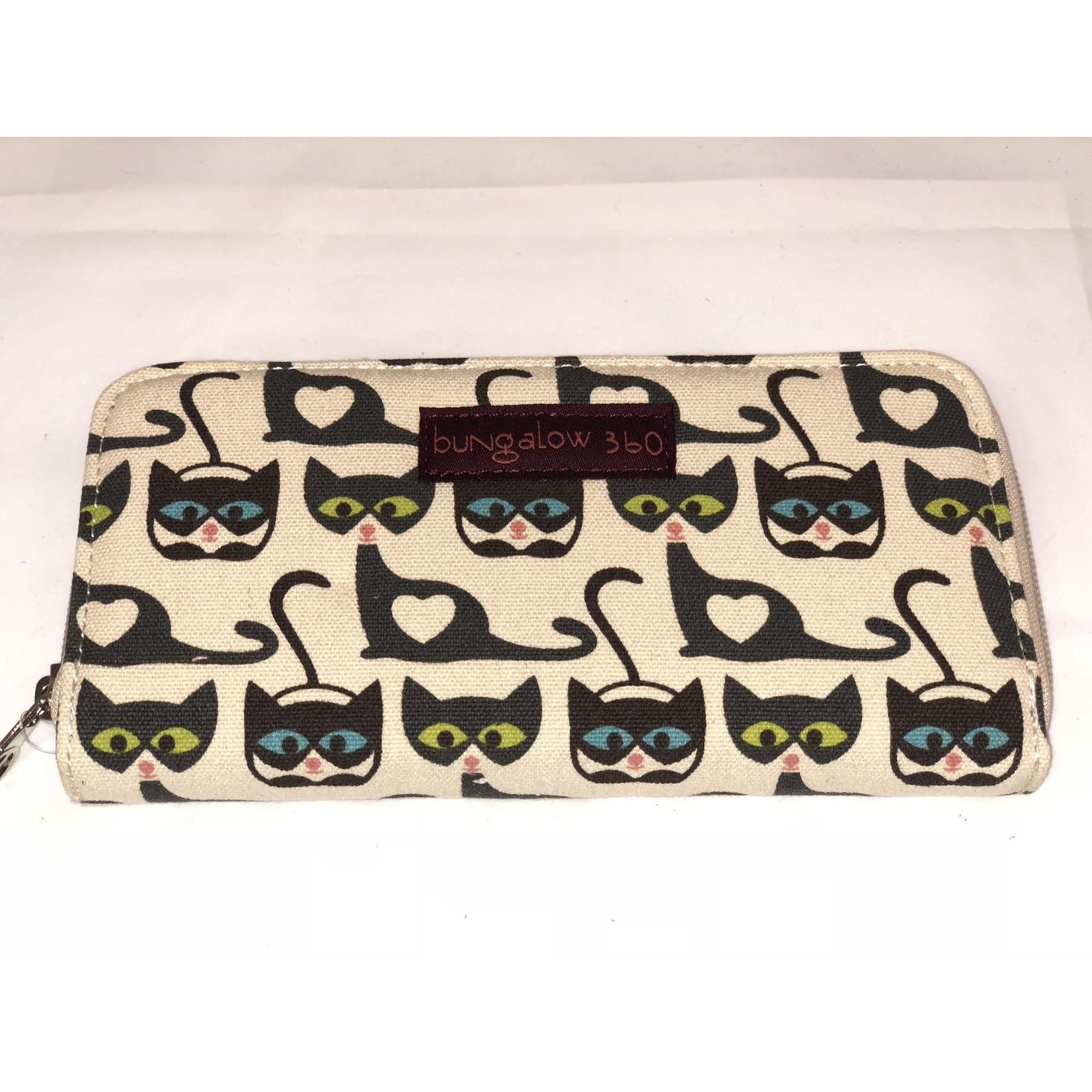 Bungalow 360 Zip Around Wallet - Cat