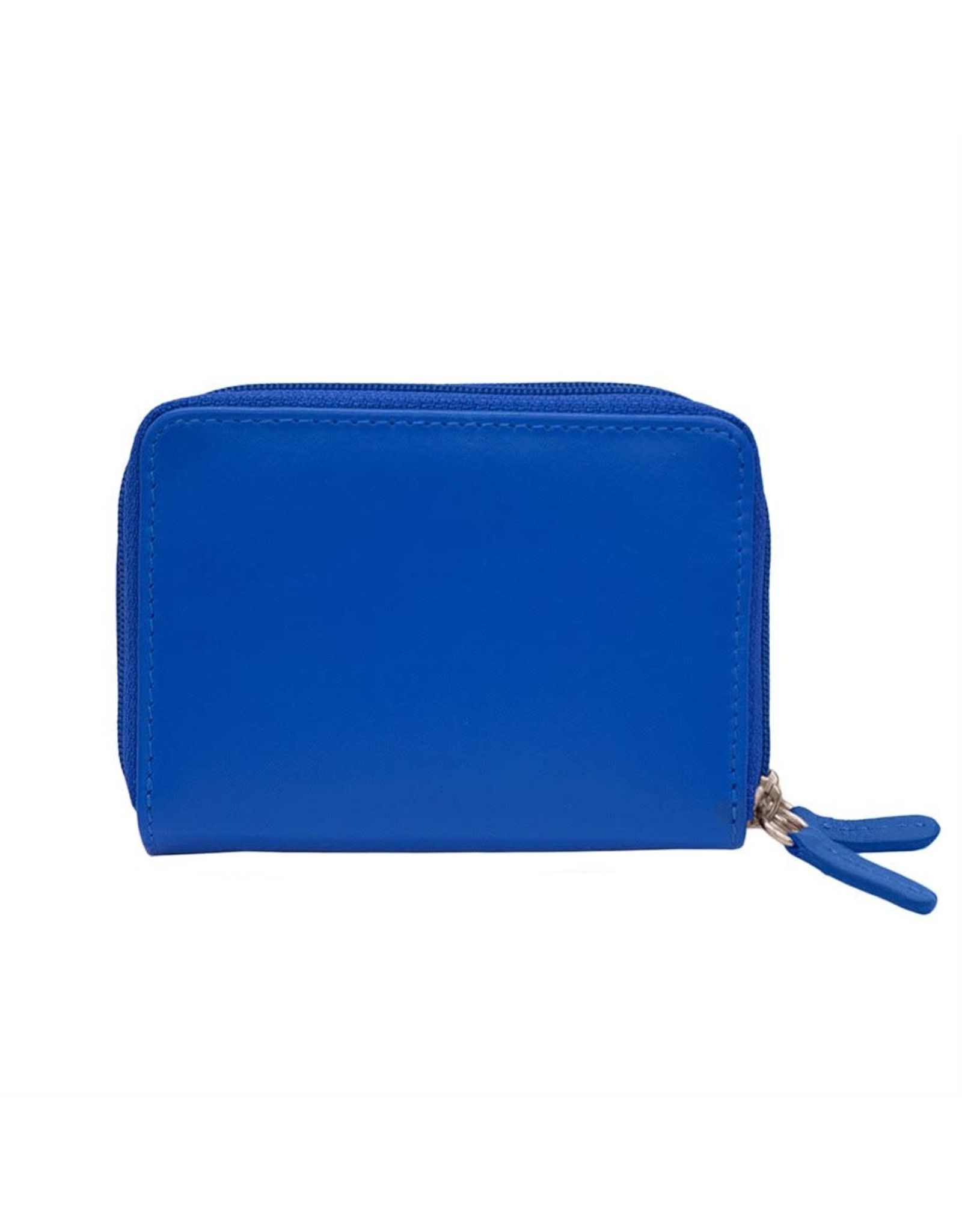 Leather Handbags and Accessories 6714 Cobalt - RFID Double Zip Accordion Card Holder