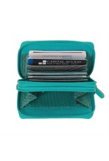 6714 Toffee - RFID Double Zip Accordion Card Holder