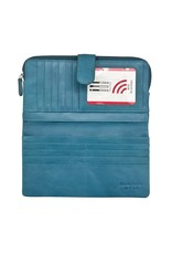 Leather Handbags and Accessories 7420 Jeans Blue - RFID Smartphone Wallet