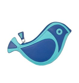 6455 Cobalt - Bird Coin Purse